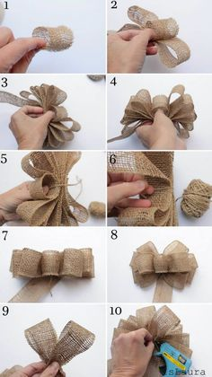 0f5e02c9f 12 Exemplos de Laços para Presentes de Natal Laços De Cetim, Enfeites De  Cabelo,