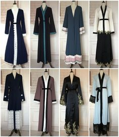 Dubia Style Open Front Abaya Kaftan Jilbab Muslim Islamic Cocktail Maxi Dress in Clothing, Shoes & Accessories, Women's Clothing, Dresses Modest Fashion Hijab, Abaya Fashion, Fashion Outfits, Mode Abaya, Maxi Skirt Outfits, Muslim Women Fashion, Beautiful Black Dresses, Bridesmaid Dresses Online, Abaya Designs