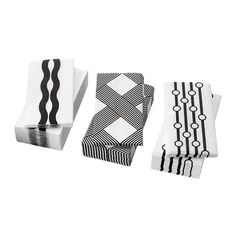 IKEA - VINTERFINT, Paper napkin, The napkin is highly absorbent because it's made of three-ply paper.