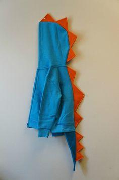 Blue Dinosaur Jacket Hoodie With Tail Halloween Costume
