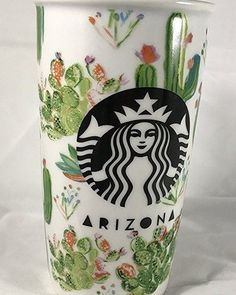 A double-walled ceramic travel mug featuring the cactus-covered Arizona landscape. Coffee Love, Coffee Cups, Crackpot Café, Film Cars, Cactus Decor, Cute Cups, Cactus Y Suculentas, Cacti And Succulents, Mug Cup