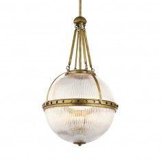 Kichler Aster 3 Light Pendant - Natural Brass