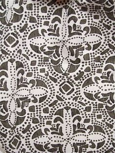 Sandoval Java medallion block print fabric from Lacefield Designs. Heavy slub linen is perfect for upholstery, drapery or any home decorating project. Textile Design, Fabric Design, Pattern Design, Drapery, Java, Printing On Fabric, Print Patterns, Branding Design, Upholstery