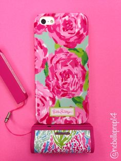 Lilly Pulitzer First Impression Case and Let's Cha Cha mobile charger  -North Carolina Belle