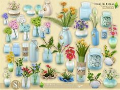 SIMcredible!'s Coastal Extras - Flowers and Vases