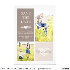 CUSTOM LISTING   SAVE THE DATE ANNOUNCEMENT