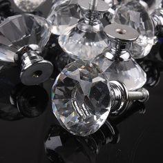 1 pcs 30 mm cristal de diamant verre alliage porte tiroirs armoire tirer la poignée boutons Vintage boutons de porte Drop Shipping gros