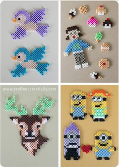 Perler beads - birds, deer, and more