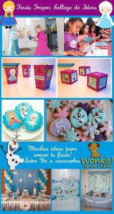 Encuentra muchas ideas para organizar tu fiesta de Frozen en esta entrada con ideas que recopilamos de la Web para compartir contigo. Entra Ya!  http://www.wonkis.com.ar/2014/04/fiesta-frozen-collage-de-ideas/