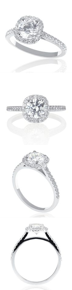 Wedding rings: 1 Ct Solitaire Enhanced Diamond Engagement Ring Round Cut E-F Si1 14K White Gold -> BUY IT NOW ONLY: $688.11 on eBay!