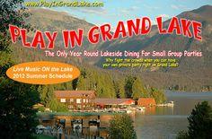 Lakeside venue overlooking Grand Lake, Colorado
