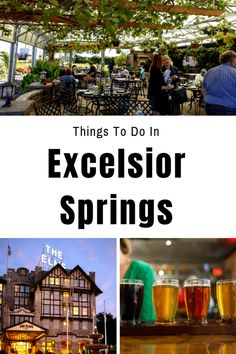Guide to a weekend in Excelsior Springs - Where to eat, where to try local beers and wine, and details on a mineral springs walking tour and a scenic bike trail Weekend Getaways For Couples, Weekend Trips, Day Trips, Paris Travel, Travel Usa, Excelsior Springs, Fall Vacations, Eureka Springs, Places To Travel