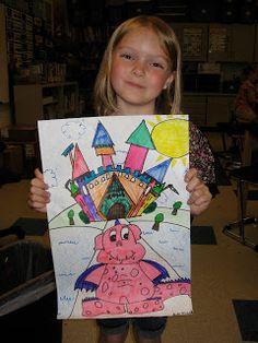 Jamestown Elementary Art Blog: 1st Grade Dragons