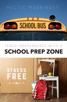 Back to School: Make mornings less stressful by creating a school prep zone  for your kids *When do/did your kids go back to school?