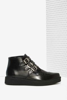T.U.K. Stomp It Out Leather Creeper