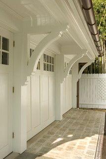 Custom brackets, carriage house garage door