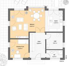 Moderne häuser satteldach grundriss  Moderne Häuser | Haus Hamburg, Grundriss Erdgeschoss | Grundriss ...