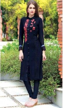 Online Latest Readymade Kurtis: Georgette, Chinese Collar | FH375262026