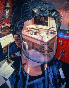 'James MacMillan, b. Composer' by Calum Colvin Art Area, Expressive Art, National Portrait Gallery, Colorful Paintings, Science Art, Art Studies, Artist Names, Photomontage, Optical Illusions