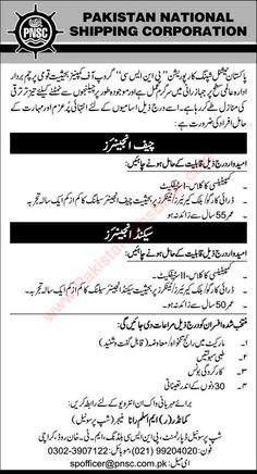 Jobs in Pakistan: Pakistan National Shipping Corporation Karachi Job...
