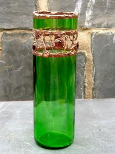 Bottle Vase - Green No.2 - by, Chris Frazier