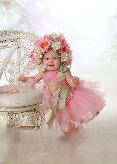 Flower Bonnet & TuTu Set by LillieBelleBoutique on Etsy,