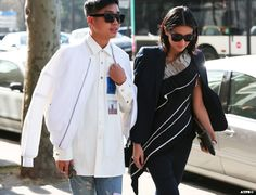 Streetstyle Post: PFW- 8 Looks to Love : Justine Lee and Declan Chan on #ATPB goo.gl/oo6RZZ