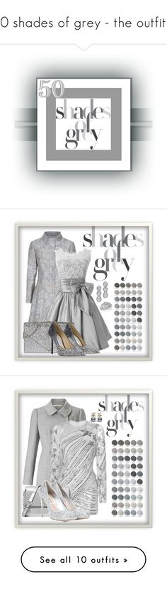 """50 shades of grey - the outfits!"" by caili on Polyvore featuring Oscar de la Renta, Yves Saint Laurent, Jimmy Choo, Harry Kotlar, Miss Selfridge, Elie Saab, Michael Kors, Miu Miu, Zimmermann and Swarovski"