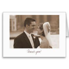cheap Zazzle Wedding (Thank you! Photo Thank You Cards, Thank You Postcards, Custom Thank You Cards, Wedding Thank You Cards, Inexpensive Wedding Invitations, Inexpensive Wedding Venues, Affordable Wedding Photography, Wedding Photography Poses, Wedding Hairsyles