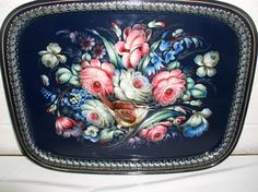 Russian Floral Trays,  floral style of Zhostovo,
