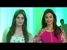 Zarine Khan & Daisy Shah at Baba & Zeeshan Siddique's Iftaar party.