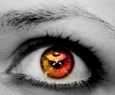 Rosy Gold Human Eye