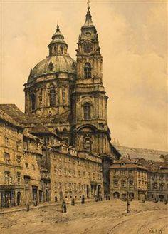 St. Nicholas Church in the Lesser Quarter, Alois Ježek. Czech (1883 - 1943)