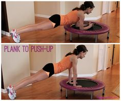 Mini Trampoline at-home exercises! Awesome for core work, leg strength, and overall endurance workouts!