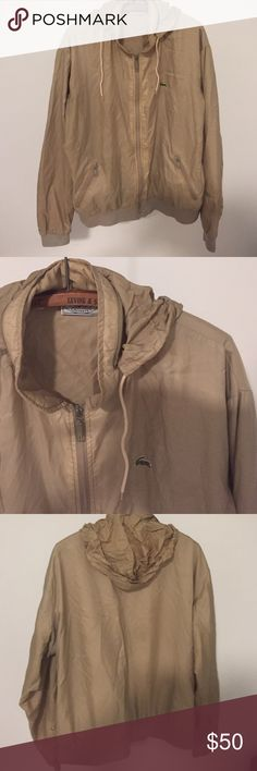 Mens Lacoste windbreaker Authentic Mens Lacoste. Light weight. Good condition. Good can be zipper up into collar Lacoste Jackets & Coats Windbreakers
