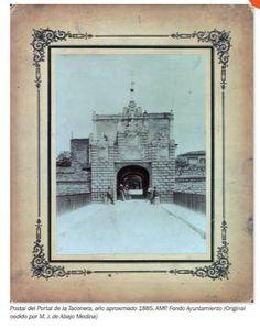 1885-PUERTA  DE  LA  TACONERA -Postal del Portal de la Taconera, año aproximado 1885.-MURALLAS-