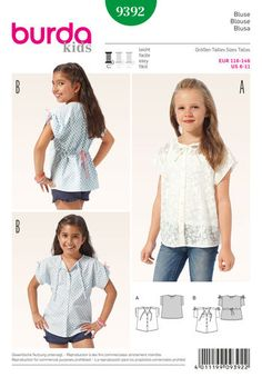 B9392 Children Blouse