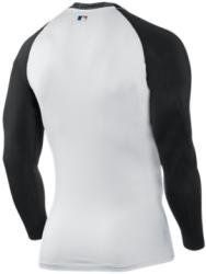 128bfad7c Nike 429605 Pro Combat Fitted Long Sleeve MLB Top - White Black by Nike.