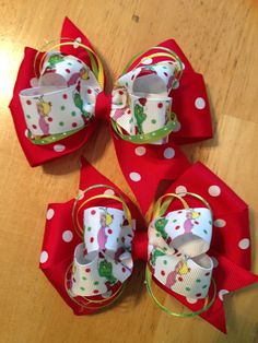 How the Grinch Stole Christmas Hair Bow by JuneBuggyBowCompany, $6.00