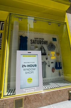 Idea: Connected high streets - stores operating 24/7. With rents at a premium retailers maximising the use of their stores http://www.psfk.com/2013/06/kate-spade-saturday-windows.html #whatifashop @David Judge PSFK