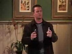 Great clips of the episode where Ross and Chandler stay at the country hotel. Ross eats too much maple candy...hilarious!
