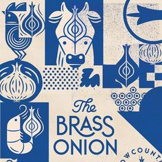 Super excited about the new identity we designed for the restaurant, The Brass Onion. Starting to document the system now and full case study coming soon. Brand Identity Design, Branding Design, Restaurant Identity, Japanese Graphic Design, Graphic Design Illustration, Graphic Design Inspiration, Print Design, Poster, Super Excited