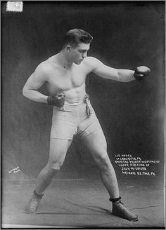 Leo Houck, Middleweight Boxer of Lancaster, PA, unknown date.