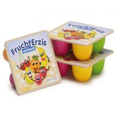 Set de 4 petits suisses aux fruits  Erzi