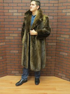 SUPER NICE.CANADIAN RIVER OTTER FUR COAT. ABOUT A MEDIUM FIT OR MANS SIZE 42. COLD STORAGE KEPT.WELL CARED FOR.HIGH QUALITY FUR PELTS WITH NO WEAR.TRULY LOOKS AS GOOD AS NEW! ALL MEASUREMENTS ARE TAKEN FROM THE OUTSIDE WITH COAT CLOSED AND LYING FLAT. | eBay!