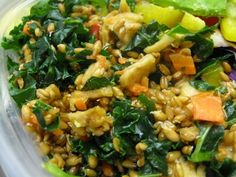 Sprouted Wheatberry Salad - good summer lunch option