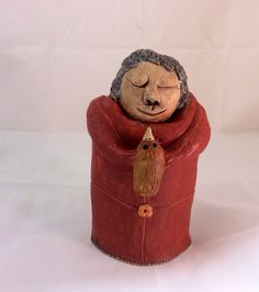 Ceramic Sculpture Wise Beyond Her Years by MuddyRiverClay on Etsy