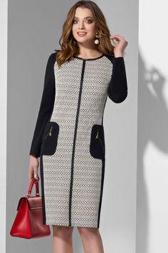 Dress Lissana 3569 szürke árnyalat + fekete Summer Blouses, Large Women, Winter Dresses, Looking For Women, Style Guides, Dress Skirt, Personal Style, Fashion Dresses, Cold Shoulder Dress