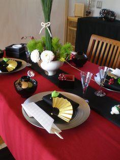シアワセのカタチ:お正月を楽しむテーブルコーディネート Japanese table setting for New Year's