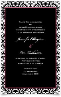 Flat Rectangle Wedding Invitations - Floral Ornament #MagnetStreet #Wedding